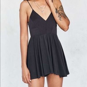 Silence and noise dark gray romper from urban